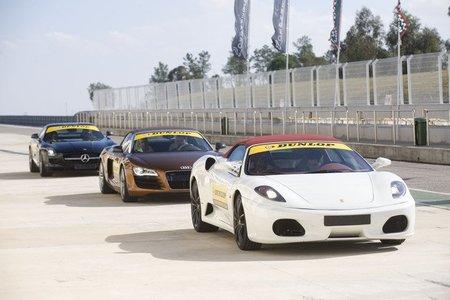 Ferrari F430 Spider, Audi R8 Spyder, Mercedes SLS AMG