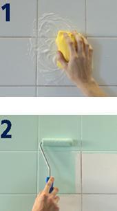 No te gustan tus azulejos cinco soluciones sin for Revestimiento adhesivo bano