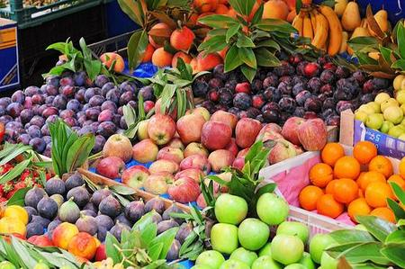 O hueso con semillas frutas