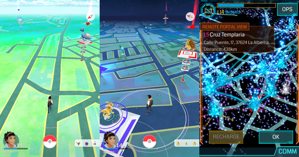 Pokemon Go vs Ingress: Mapa