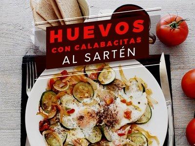 Huevos con calabacitas al sartén. Receta de desayuno en video