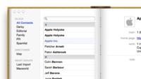 La última actualización de OS X Mountain Lion las barras laterales a la agenda y el calendario