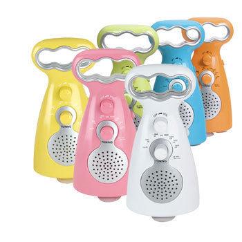 Radios para ducha coloridas