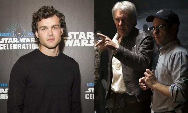 Alden Ehrenreich, Harrison Ford y J.J. Abrams