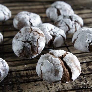 Galletas crinkles o craqueladas de chocolate: receta infalible para golosos
