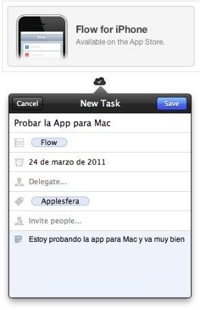 Flow par aiPhone y para Mac