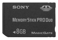 Memory Stick Pro Duo de 8 GB: precio y fecha
