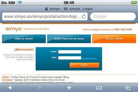 Información de consumo en las páginas de las operadoras