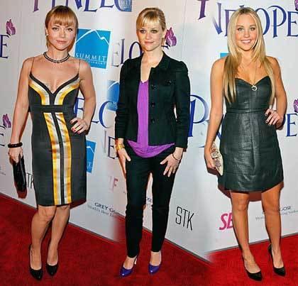 Christina Ricci, Resse Whiterspoon y Amanda Bynes en la premiere de Penélope