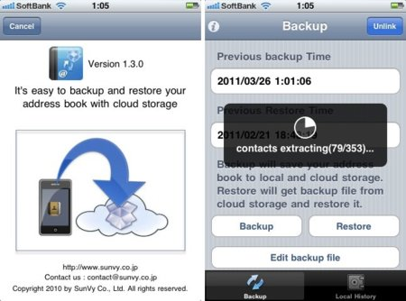 Contacts Backup Over Dropbox o cómo realizar copias de seguridad de tus contactos en Dropbox