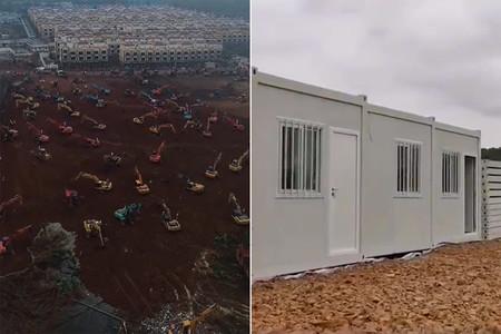 ¿Cómo construir un hospital en diez días? En China, utilizando barracones prefabricados