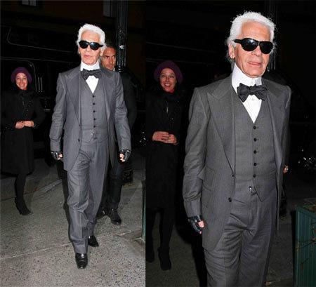 El nuevo look de Karl Lagerfeld