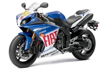 Yamaha R1 LE con los colores de Rossi
