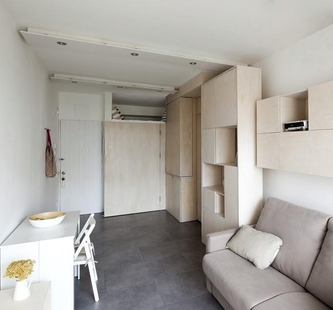 Space Saving Transforming Furniture Studio Apartment