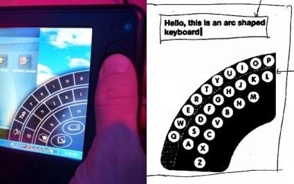 Patente de un teclado virtual de Apple