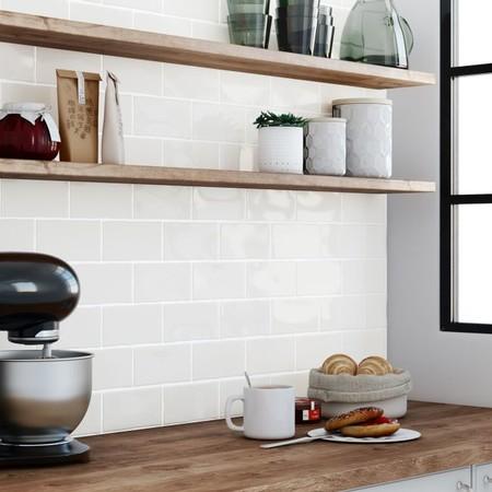 Cinco tendencias en azulejos y cer mica para una cocina de for Baldosa metro