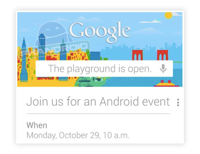 google evento android