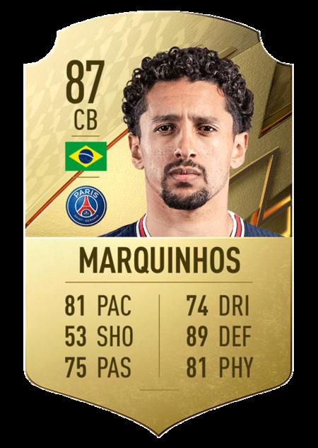 Marquinhos mejores jugadores ligue 1 fifa 22