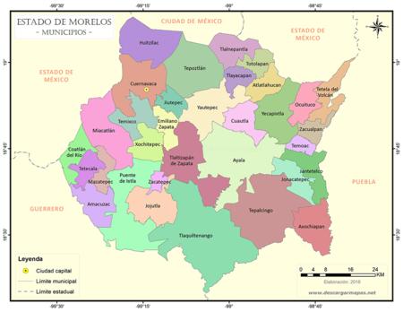 Mapa Estado Morelos Municipios