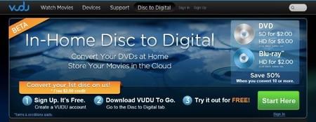 In Home disc to digital, el nuevo servicio de VUDU para almacenar nuestras películas en la nube