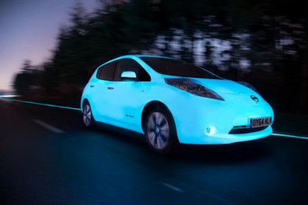 Con el Nissan Leaf, pronto conducir de noche será como una película de ciencia ficción