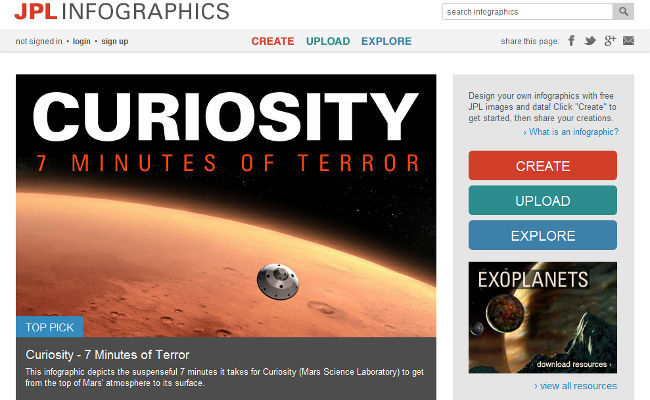 JPL Infographics home site