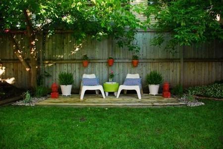 Un oasis de jardín barato y fácil de hacer