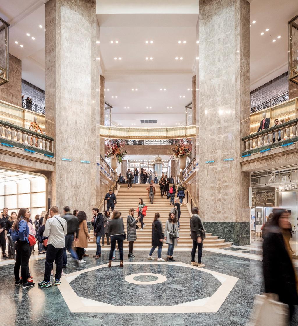 Galerías Lafayette abre un nuevo centro en París recuperando un edificio art decó junto a los Campos Elíseos