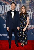 Seth Meyers y señora