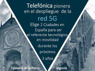 Segovia y Talavera de la Reina serán los campos de prueba de Telefónica con el 5G