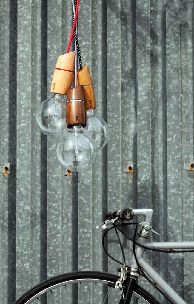 Foto de Presume de bombillas con los adorables casquillos de madera Root (5/6)