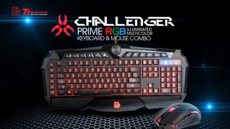 Thermaltake añade iluminación RGB a combo Challenger Prime de teclado y mouse