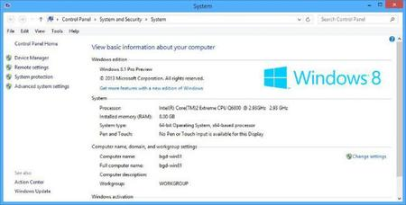 Windows 8.1 Preview no tiene el sistema de puntuación Experiencia Windows