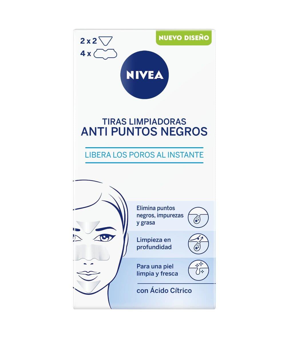 NIVEA Tiras Limpiadoras Anti Puntos Negros en pack de 6 (6x8 uds), limpiador de poros