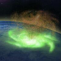 Descubren, por primera vez, un huracán espacial sobre el Polo Norte: lluvia de electrones y una masa de plasma de 1.000 km