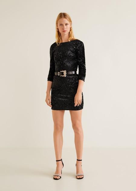Vestido Mango Negro 2018 06