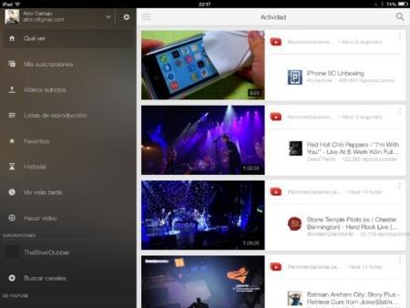 Youtube en iOs 7