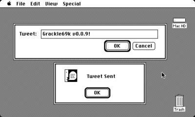 Grackle68k, un cliente Twitter para Mac OS 9 Classic