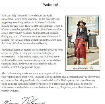 Tiembla mundo blogger. El blog de Olivia Palermo ya online