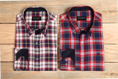 Las camisas de cuadros se renuevan gracias a Titto Bluni