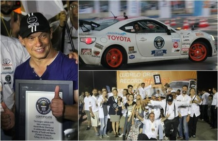 Récord Guinness de drifting (*) para el Toyota GT 86
