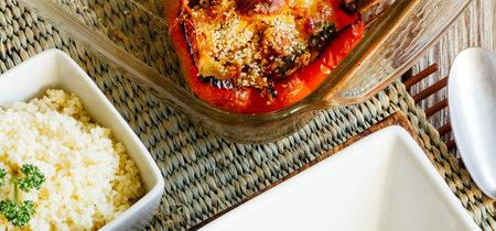 Pimientos rellenos con pollo y chistorra. Receta fácil