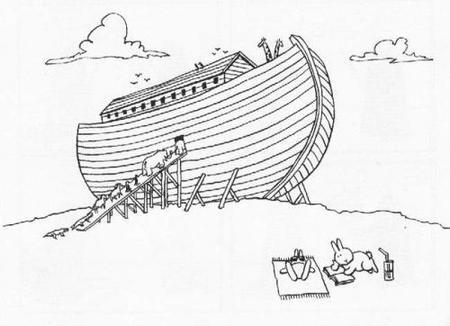conejito y el arca de noé
