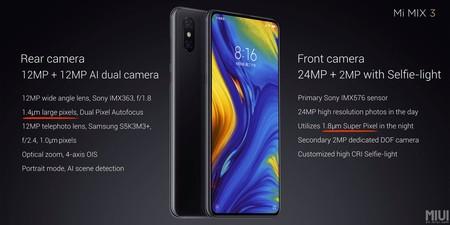 Xiaomi Mi Mix 3 Oficial Camaras