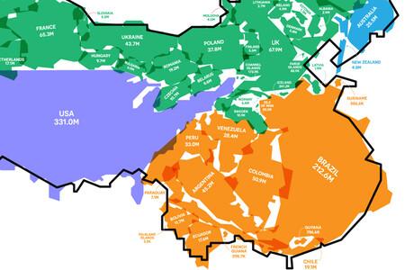 Cómo de grande es realmente la población de China, explicado en un ilustrativo mapa
