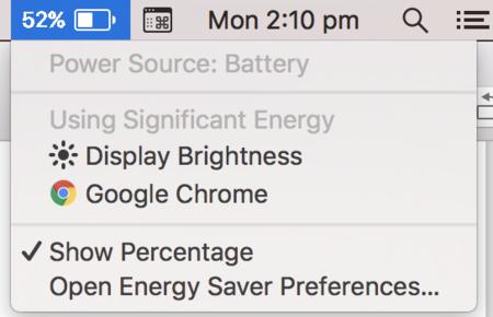 macOS te alertará del consumo excesivo de la pantalla al máximo de brillo