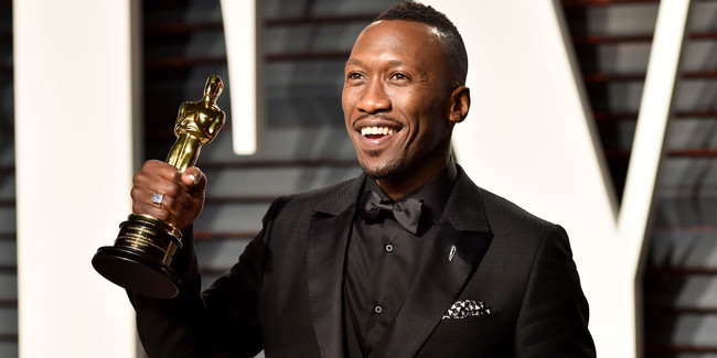 Mahershala with his Oscar