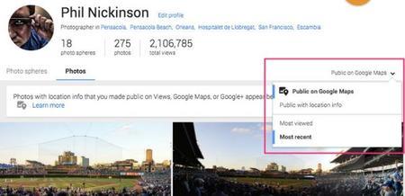 Las imágenes de Google+ se mostrarán en Google Maps