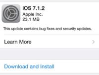 Apple lanza iOS 7.1.2 con mejoras en conectividad, entre otras