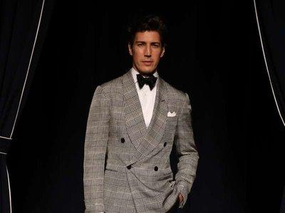 El top español Oriol Elcacho deslumbró en la presentación de Ralph Lauren Purple Label en Milán